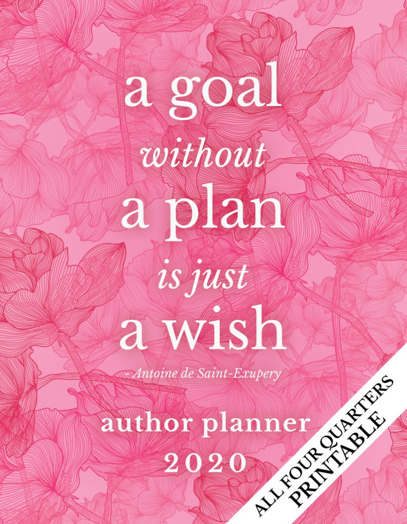 Author Planner - Pink Flowers