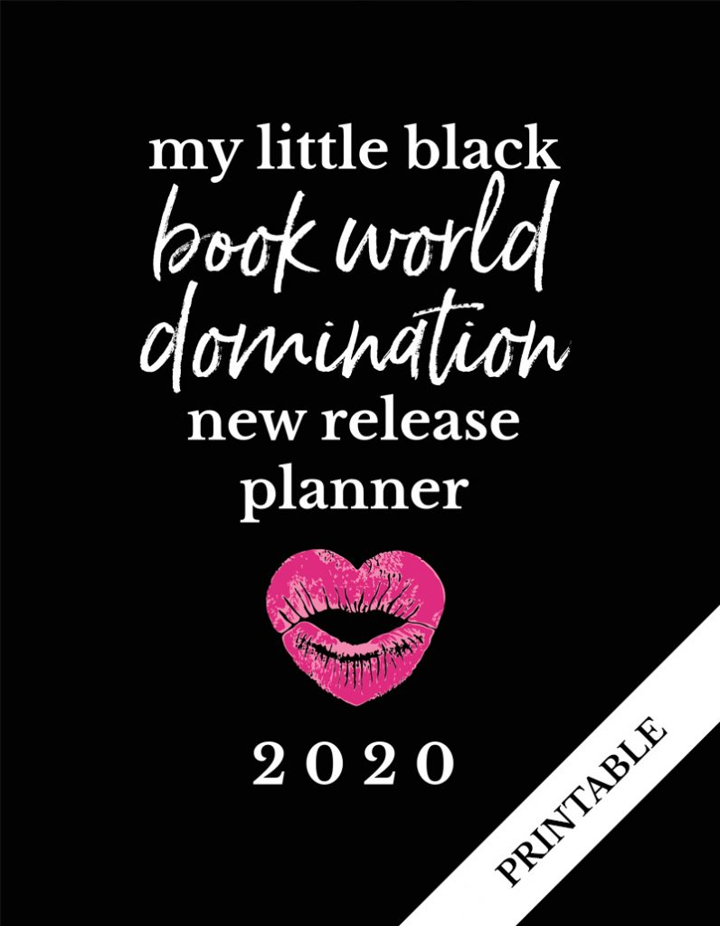 Love Kissed New Release Planner Author Planner 2020 - Little Black Book - Printable