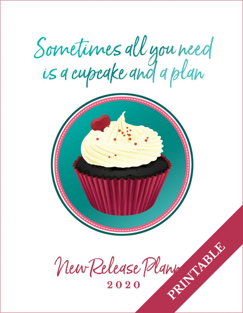 Love Kissed New Release Planner Author Planner 2020 - Cupcake - Printable