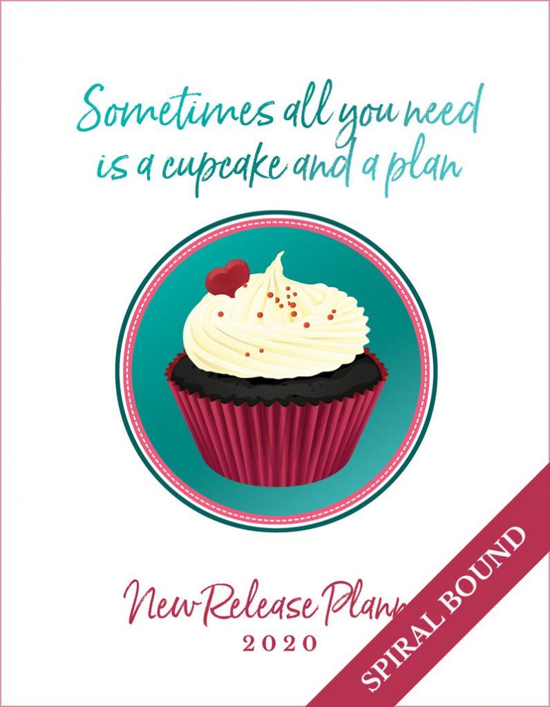 Love Kissed New Release Planner Author Planner 2020 - Cupcake - Spiral Bound