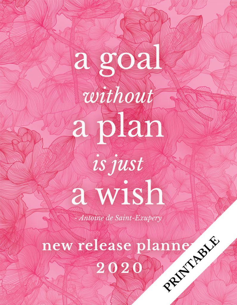 Love Kissed New Release Planner Author Planner 2020 - Pink Flowers - Printable
