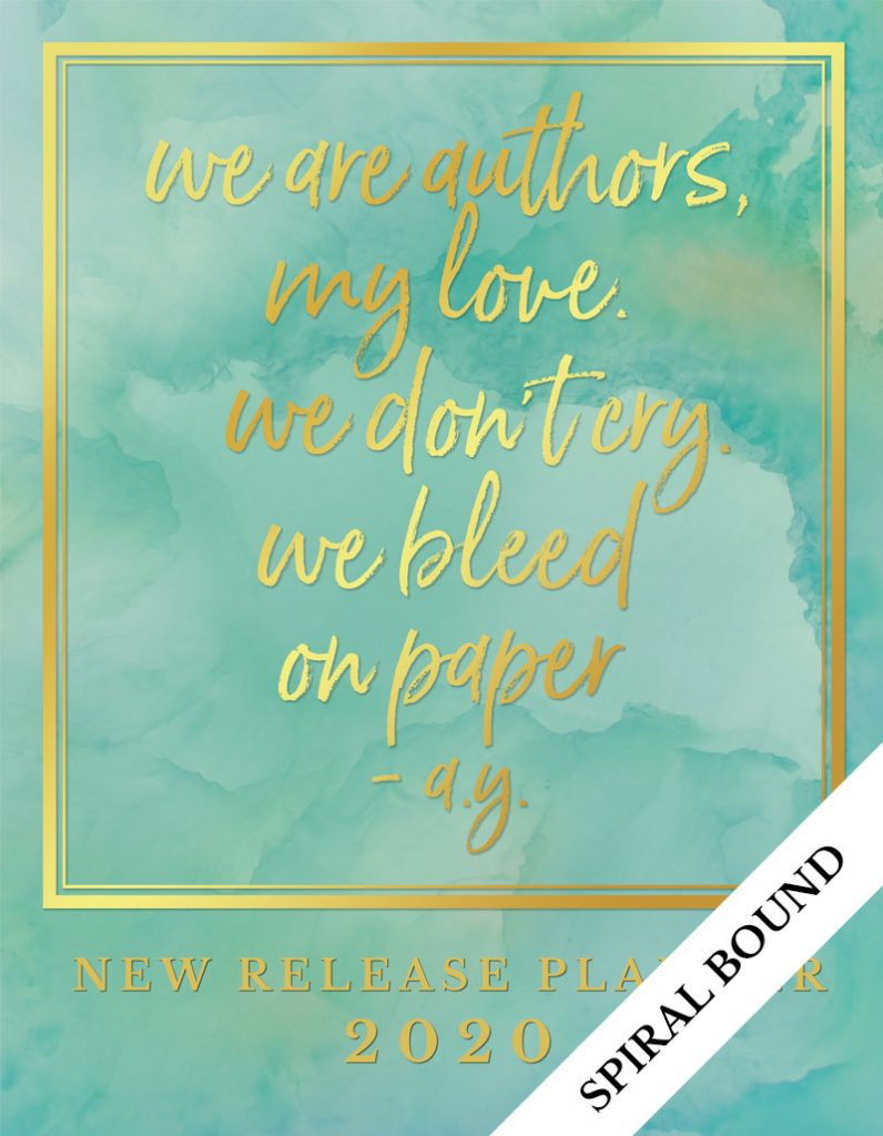 Love Kissed New Release Planner Author Planner 2020 - Teal - Spiral Bound