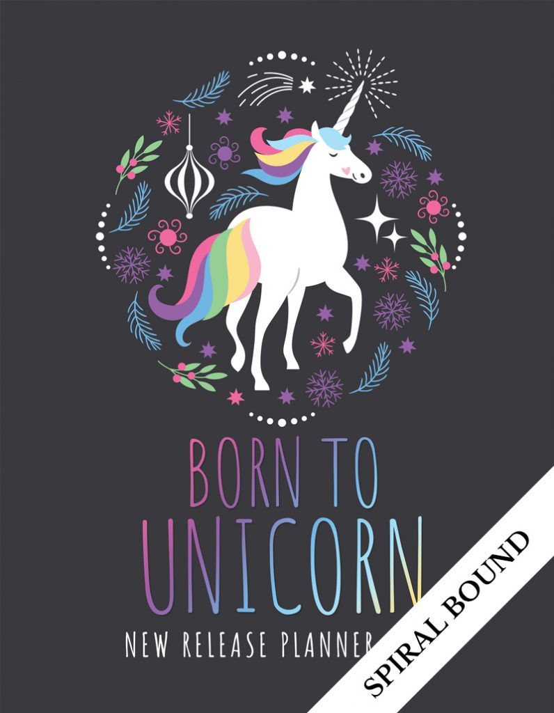 Love Kissed New Release Planner Author Planner 2020 - Unicorn - Spiral Bound